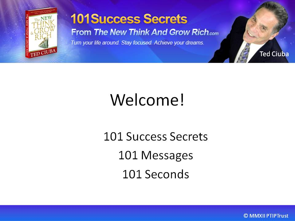Welcome To 101 Quantum Success Secrets