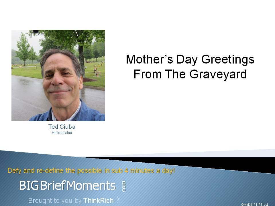Mother's Day Greetings From The Graveyard