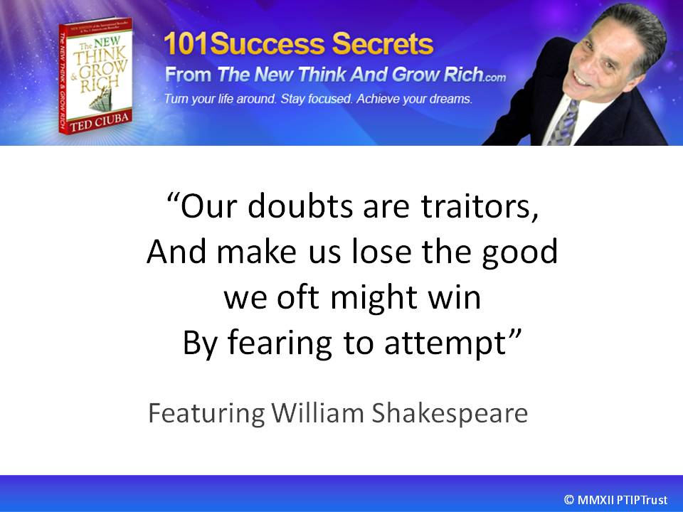 Our Doubts Are Traitors, Featuring William Shakespeare