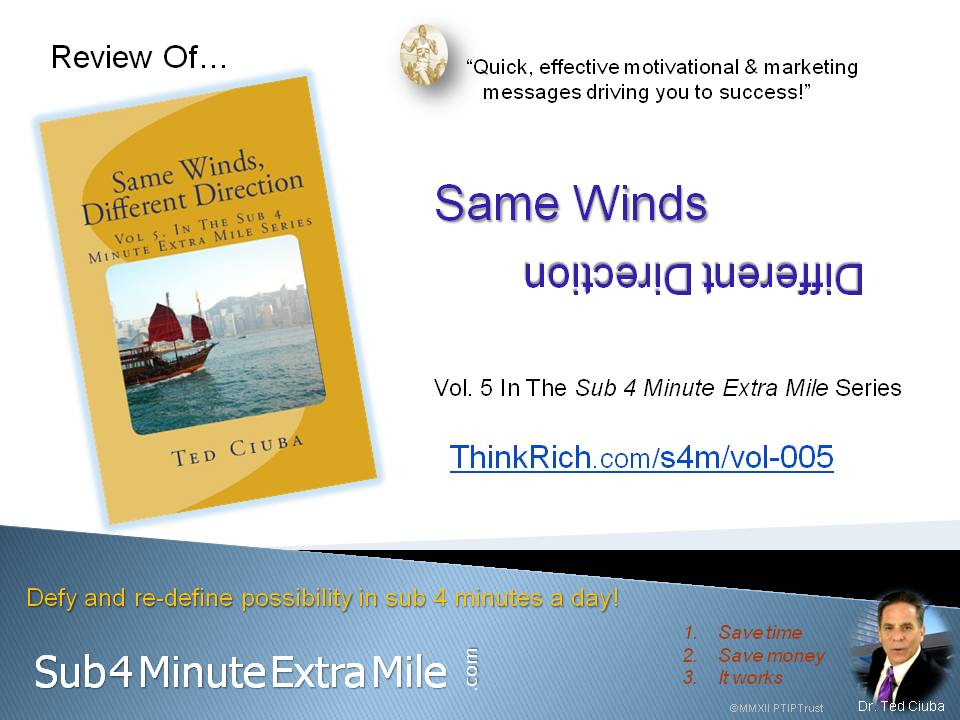 Review of *Same Winds, Different Directions* of Sub 4 Minute Extra Mile Series  Vol 5