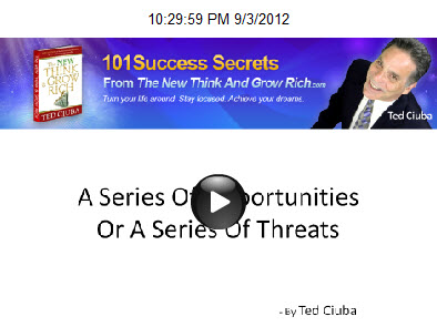 A Series Of Opportunities Rather Than A Series Of Threats