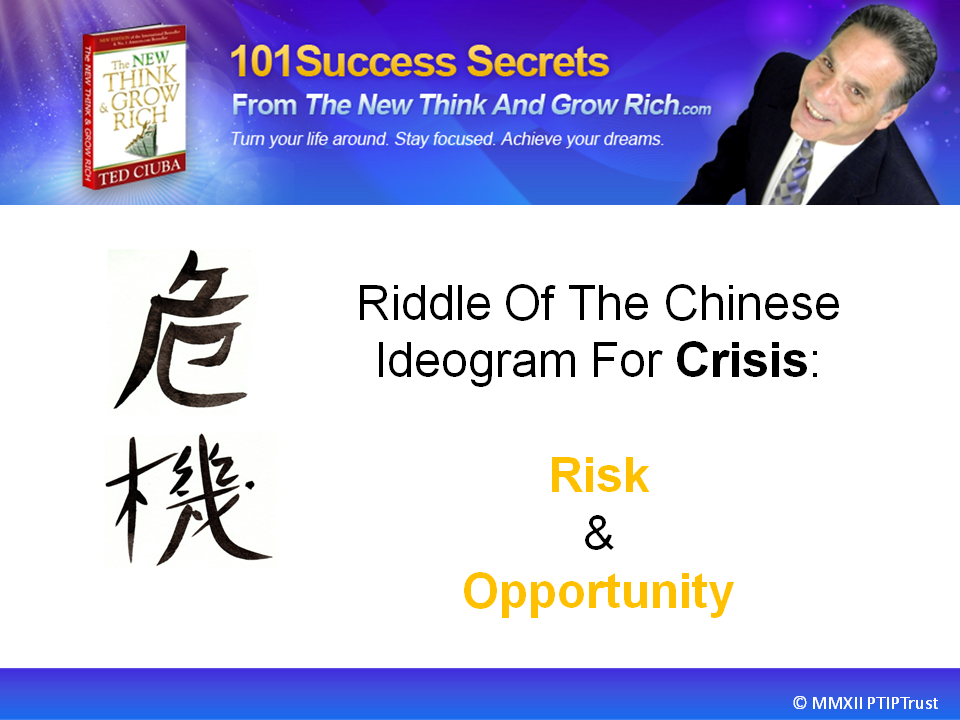 The Riddle Of The Chinese Ideogram For Crisis