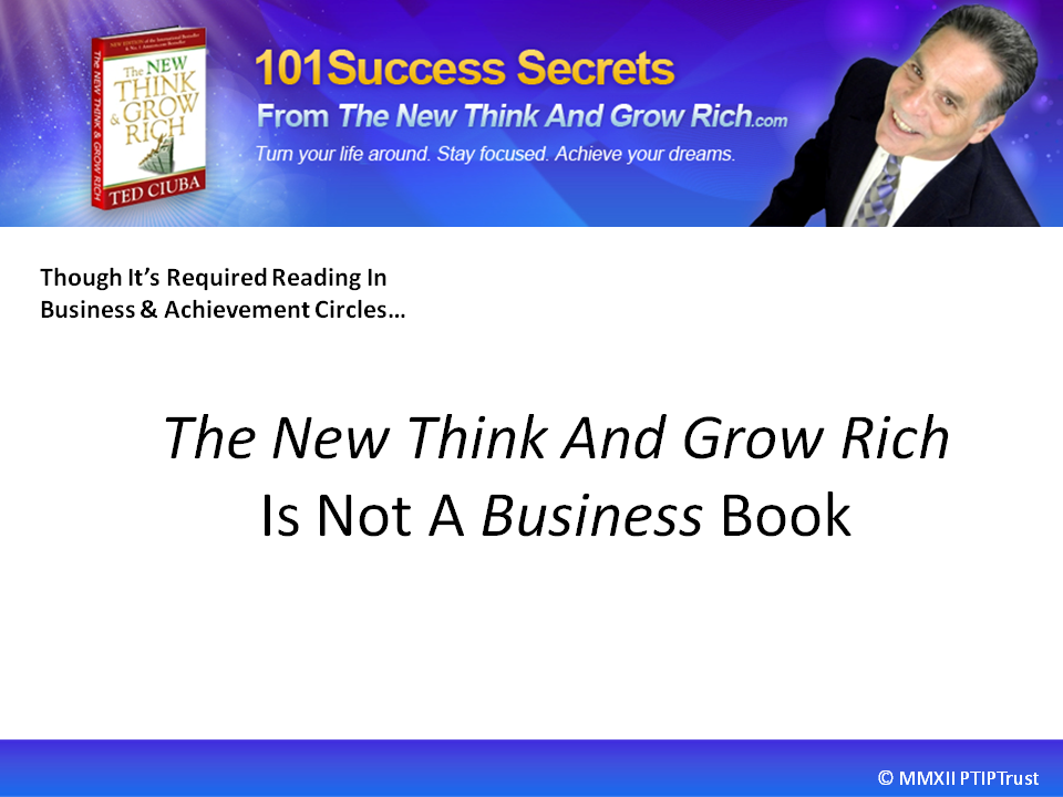 The New Think And Grow Rich Is Not A Business Book