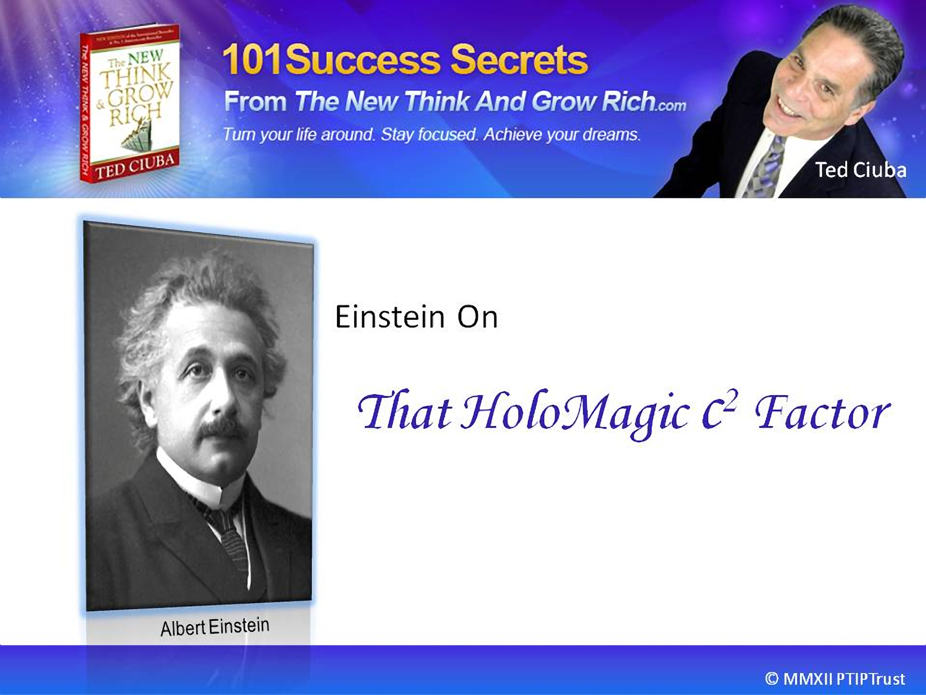 Einstein On That HoloMagic c2 Factor