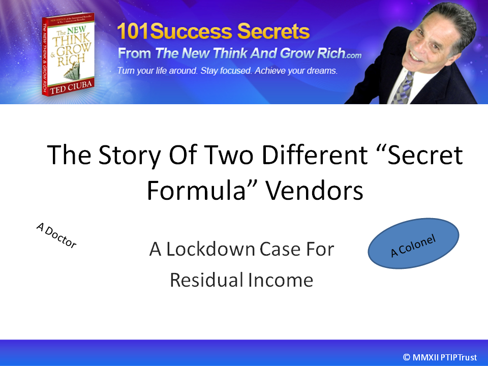 The Story Of Two Different Secret Formula Vendors