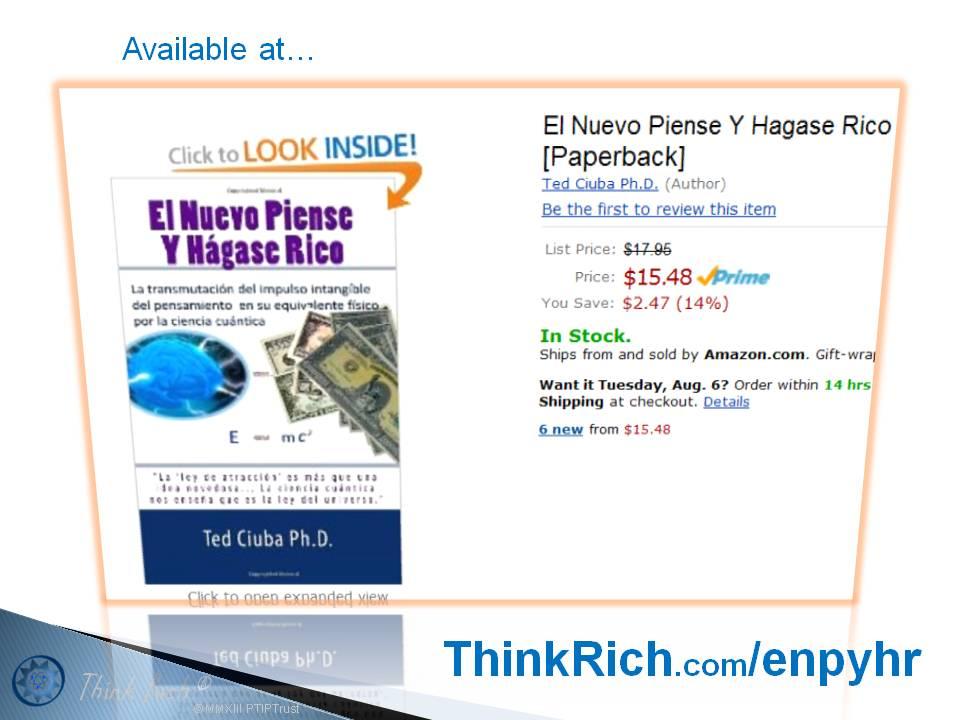 Anuncio! El Nuevo Piense y Hágase Rico (The New Think & Grow Rich)