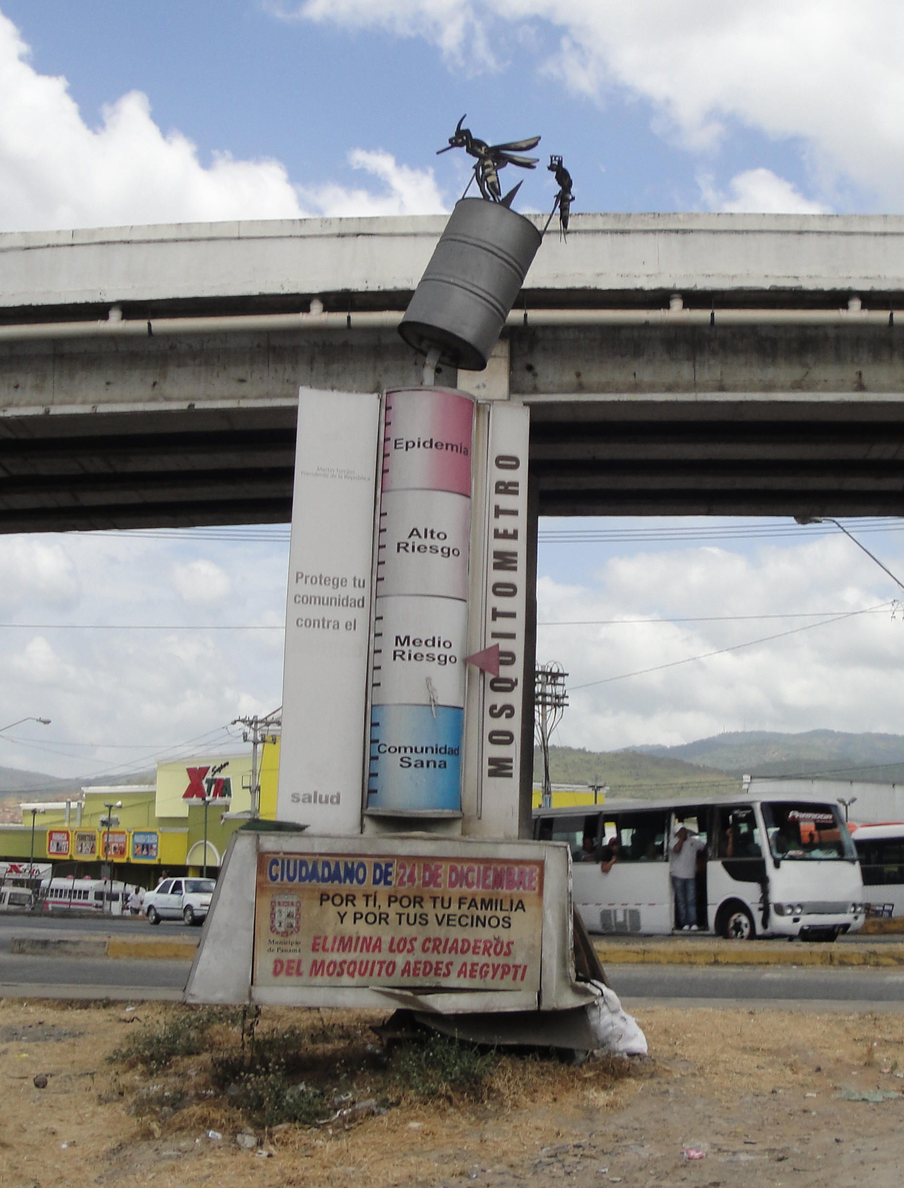 The Mosquito Meter In Tocumen, Panamá Keeps You Informed
