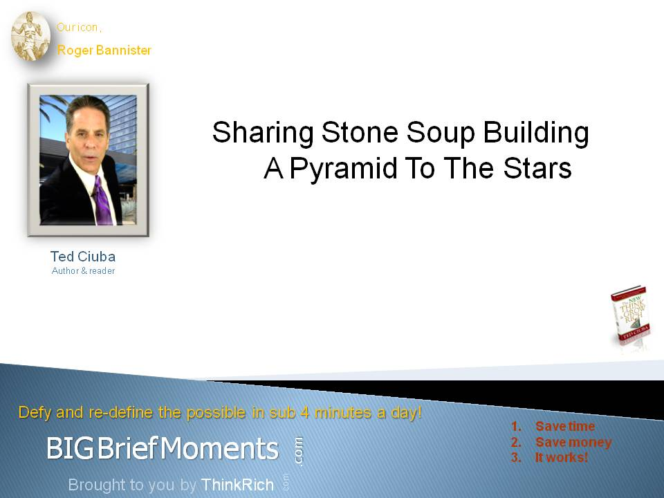 Sharing Stone Soup Building A Pyramid To The Stars