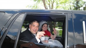 Mike And Alysha Leaving As A Married Couple In Limo