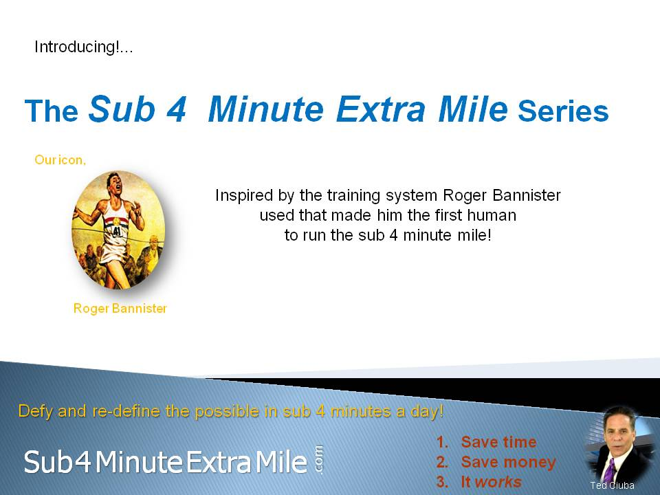 Sub 4 Minute Extra Mile Series Goes To Amazon & Kindle