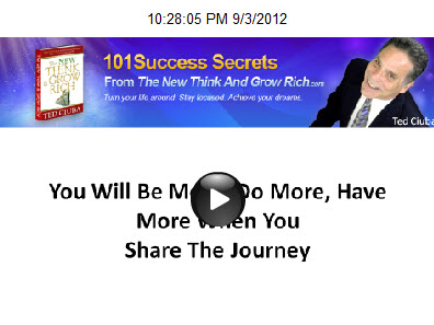 You Will Be More, Do More, Have More When You Share The Journey