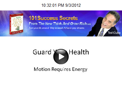 Guard Your Health: Motion Requires Energy