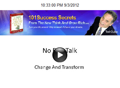 No Pep Talk – Change And Transform