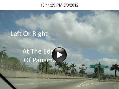 Left Or Right At The Edge Of Panama