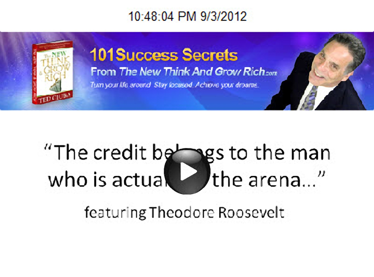 The Credit Belongs To The Man Who Is Actually In The Arena